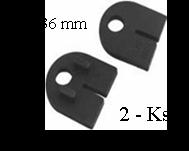 Gumička na sklo 8,76 mm, balení: 2 ks / k držáku EB1-0102, EB1-4102 - 1