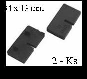 Gumička na sklo 10 mm, balení: 2 ks / k držáku EB1-0105, EB1-4105 - 1