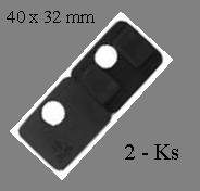 gumička na sklo 10mm, balení: 2 ks / k držáku EB1-0107, EB1-4107   - 1