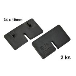 gumička na sklo 6.0 mm, balení: 2 ks / k držáku EB1-AK05   - 1