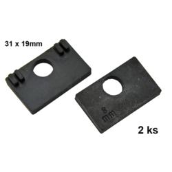 Gumička na sklo 10,0 mm, balení: 2ks / k držáku EB1-AP06, EB1-AP46 - 1