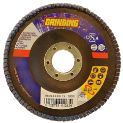 GRINDING brusný lamelový kotouč na ocel, nerez 125x22,2mm / zrno 80