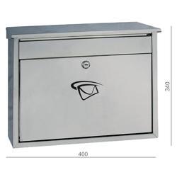 Poštovní schránka (400x340x100 mm), max. formát listu: C4, leštěná nerez / AISI430