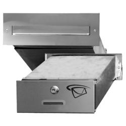 Poštovní schránka do zdi (275x90x400mm), max. formát listu: A4, leštěná nerez, AISI430 - 1