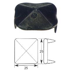 Ozdobný hřebík 25 x 25 mm se dvěma hroty - 1
