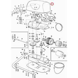 PPD1177A.4540 vrchní kryt pohonu HYPPO, RAL7016
