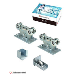Set pro samonosný systém PICCOLO 67 x 67mm, 2x vozík C395Piccolo Klasic, 1x náběh. kolečko C396Piccolo, 1x doraz C397P, 1x krytka C398P - 1