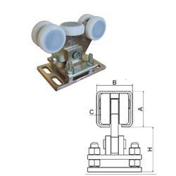 Vozík regulovatelný pro profil 80 x 80 x 5 mm, polyamidová kolečka