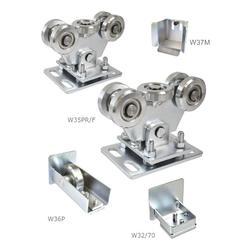 Set pro samonosný systém 70 x 70 x 4 mm, 2x regulovatelný vozíky, 1x doraz, 1x náběhové kolečko, 1x záslepka