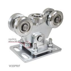 Vozík regulovatelný pro profil 70x70x4 mm, ocelová kolečka, povrch-galvanické zinkování