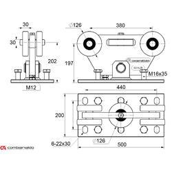 Vozík pro samonosný systém Combi Arialdo do 1000 kg - 2