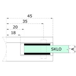 Gumička na sklo 10,0 mm, balení: 2ks / k držáku EB1-AP06, EB1-AP46 - 2