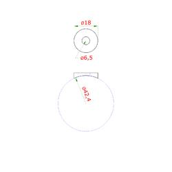 Podložka na trubku ø 42x6 mm, (ø 18x2 mm, díra ø 8 mm), broušená nerez K320 / AISI304 - 2