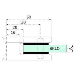 Gumička na sklo 6,76 mm, balení: 2 ks / k držáku EB1/EB2/EL1-0100 / 4100 - 2