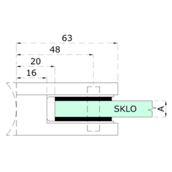 Gumička na sklo 8,76 mm, balení: 2 ks / k držáku EB1-0102, EB1-4102 - 2