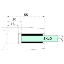 gumička na sklo 10mm, balení: 2 ks / k držáku EB1-0107, EB1-4107   - 2