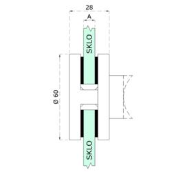 Gumička na sklo 12 mm, balení: 4 ks / k držáku EB1-0110, EB1-4110 - 2