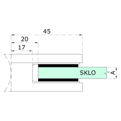 Gumička na sklo 10 mm, balení: 2 ks / k držáku EB1-0105, EB1-4105 - 2
