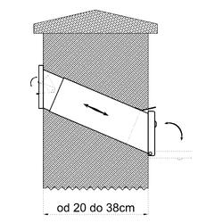 Poštovní schránka do zdi (275x90x400mm), max. formát listu: A4, leštěná nerez, AISI430 - 2