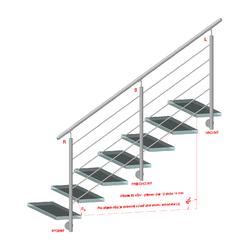 Nerezový sloup, boční kotvení, 5 děrový průchodný, vrch nastavitelný (ø 42,4x2 mm), broušená nerez K320 / AISI304 - 2