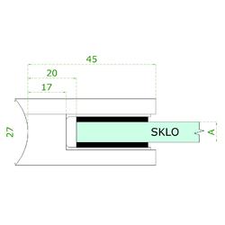 ZAMAK svorka skla na trubku ø 42.4 mm (45x45x26 mm) materiál: slitina AL / ZN, bez povrchové úpravy (možnost lakování), balení neobsahuje gumičky na sklo - 3