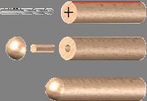 Dřevěné ukončení madla (ø 42 mm), dřevo: buk bez povrchového nátěru - 3
