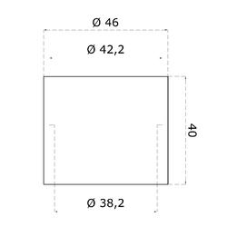 Adaptér (ø 38 mm) pro montáž ukončení (EB1-ND41), lakovaná ocel - 5